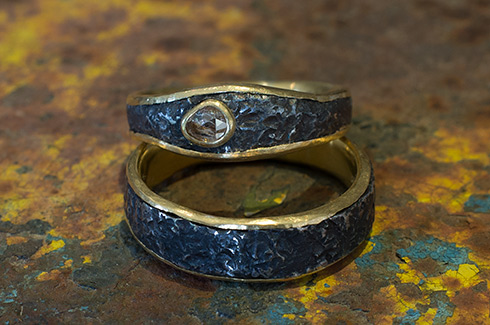 medium eye rings forged the wedding bands golden